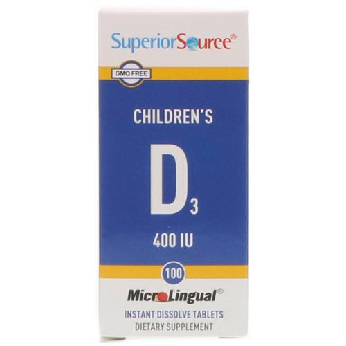 Superior Source, Children's D3, 400 IU, 100 MicroLingual Instant Dissolve Tablets Review