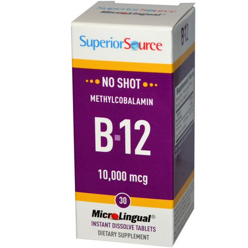 Superior Source, Methylcobalamin B-12, 10,000 mcg, 30 MicroLingual Instant Dissolve Tablets Review