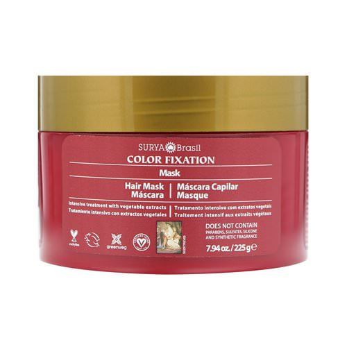 Surya Brasil, Color Fixation - Restorative Hair Mask, 7.6 fl oz (225 g) Review