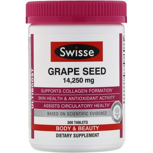 Swisse, Ultiboost, Grape Seed, 14,250 mg, 300 Tablets Review
