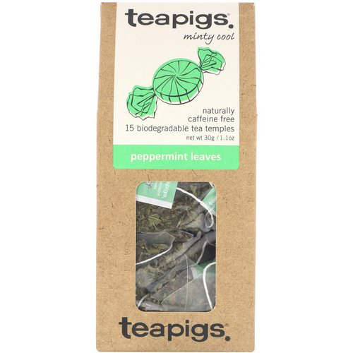 TeaPigs, Minty Cool, Peppermint Leaves, Caffeine Free, 15 Tea Temples, 1.1 oz (30 g) Review