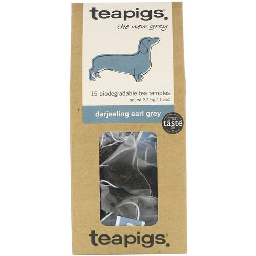 TeaPigs, The New Grey, Darjeeling Earl Grey, 15 Tea Temples, 1.3 oz (37.5 g) Review