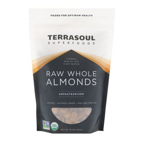Terrasoul Superfoods, Raw Whole Almonds, Unpasteurized, 16 oz (454 g) Review
