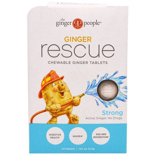 The Ginger People, Ginger Rescue, Chewable Ginger Tablets, Strong, 24 Tablets (15.6 g) Review