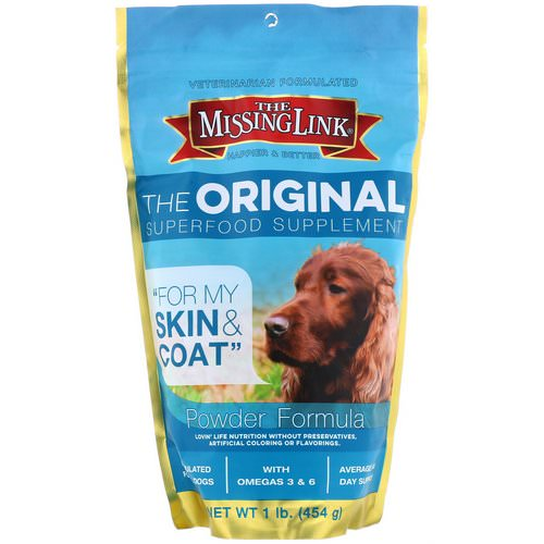 The Missing Link, The Original Superfood Supplement, Powder Formula, For Dogs, 1 lb (454 g) Review