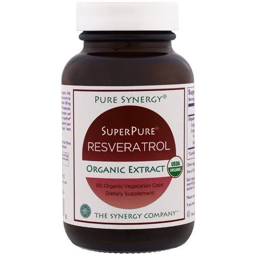 The Synergy Company, Pure Synergy, Organic Super Pure Resveratrol Organic Extract, 60 Organic Veggie Caps Review