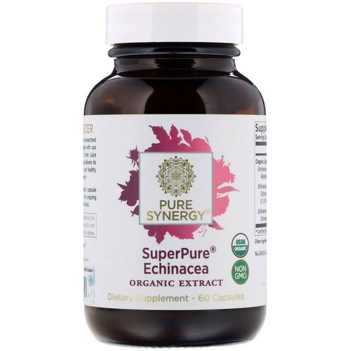 The Synergy Company, SuperPure Echinacea Organic Extract, 60 Capsules Review