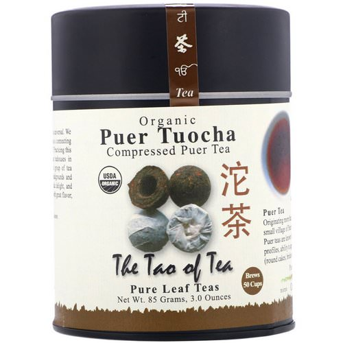 The Tao of Tea, Organic Compressed Puer Tea, Puer Tuocha, 3.0 oz (85 g) Review