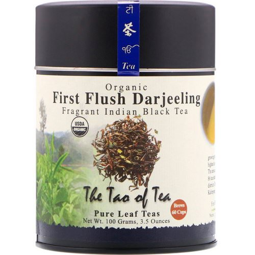 The Tao of Tea, Organic Fragrant Indian Black Tea, First Flush Darjeeling, 3.5 oz (100 g) Review