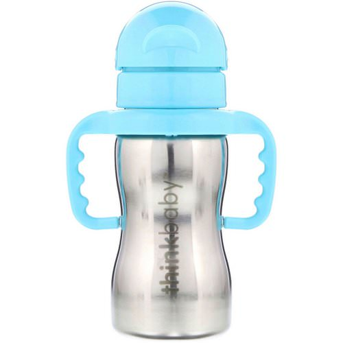 Think, Thinkbaby, Thinkster of Steel Bottle, Blue, 1 Straw Bottle, 9 oz (260 ml) Review
