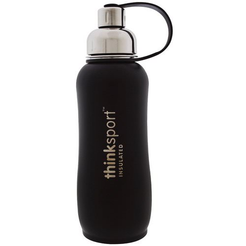 Think, Thinksport, Insulated Sports Bottle, Black, 25 oz (750 ml) Review