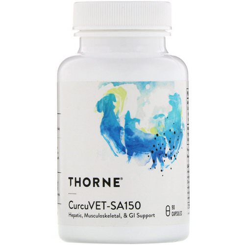 Thorne Research, CurcuVET-SA150, 90 Capsules Review