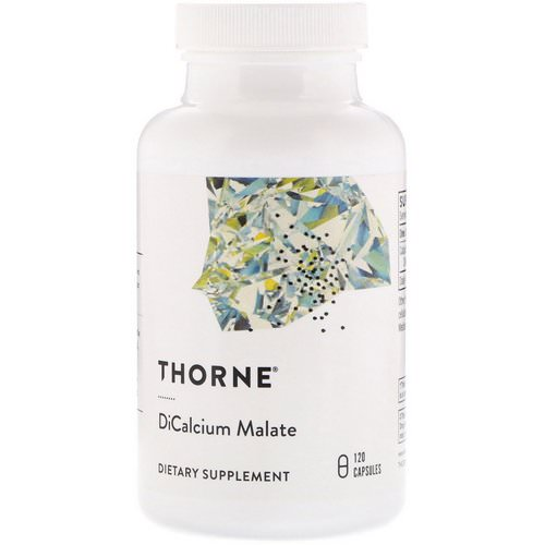Thorne Research, Dicalcium Malate, 120 Capsules Review