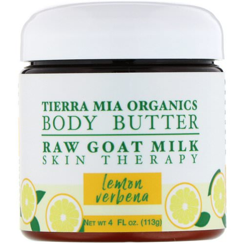 Tierra Mia Organics, Body Butter, Raw Goat Milk, Skin Therapy, Lemon Verbena, 4 fl oz (113 g) Review
