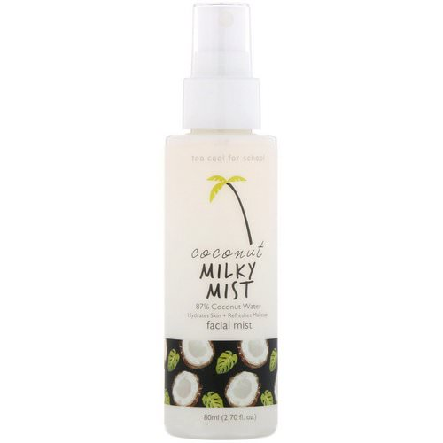Too Cool for School, Coconut Milky Mist, Facial Mist, 2.70 fl oz (80 ml) Review