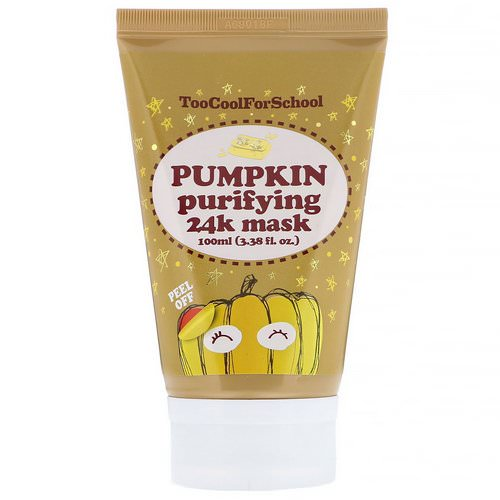 Too Cool for School, Pumpkin Purifying 24K Mask, 3.38 fl oz (100 ml) Review