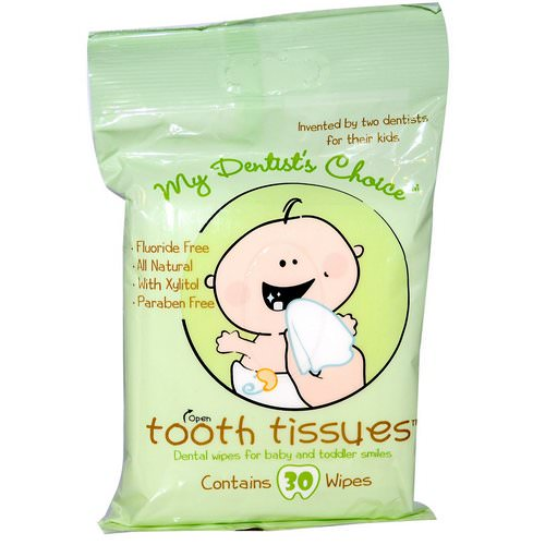 Tooth Tissues, My Dentist's Choice, Dental Wipes for Baby and Toddler Smiles, 30 Wipes Review