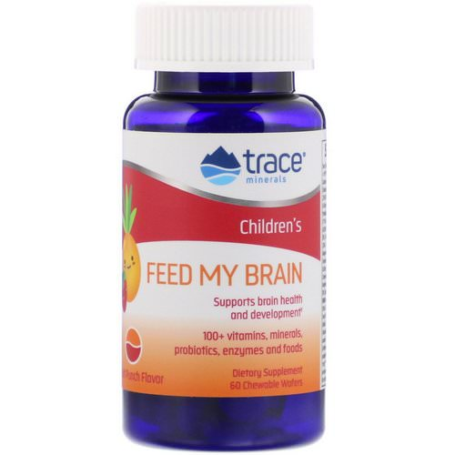 Trace Minerals Research, Children's, Feed My Brain, Fruit Punch, 60 Chewable Wafers Review