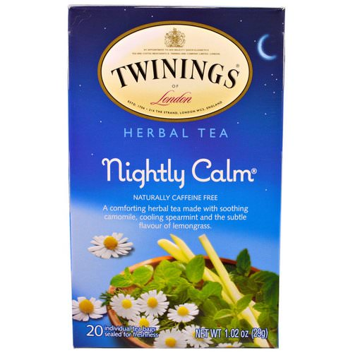 Twinings, Herbal Tea, Nightly Calm, Naturally Caffeine Free, 20 Tea Bags, 1.02 oz (29g) Review