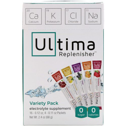 Ultima Replenisher, Electrolyte Supplement, Variety Pack, 20 Packets, 2.4 oz (68 g) Review