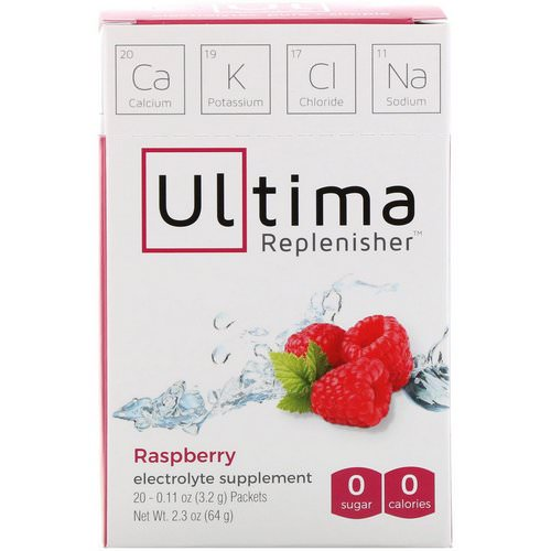 Ultima Replenisher, Electrolyte Supplement, Raspberry, 20 Packets, 0.11 oz (3.2 g) Each Review