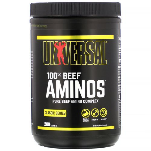 Universal Nutrition, 100% Beef Aminos, 200 Tablets Review