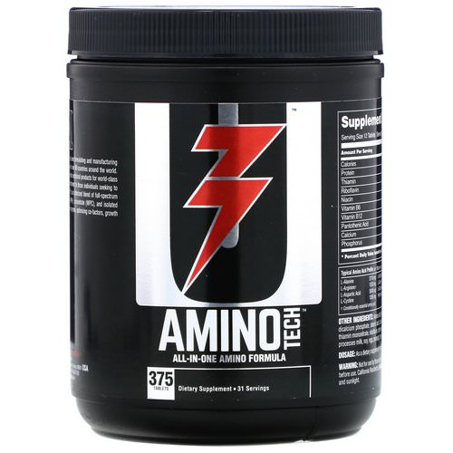 Universal Nutrition, Amino Tech, All-In-One Amino Formula, 375 Tablets Review