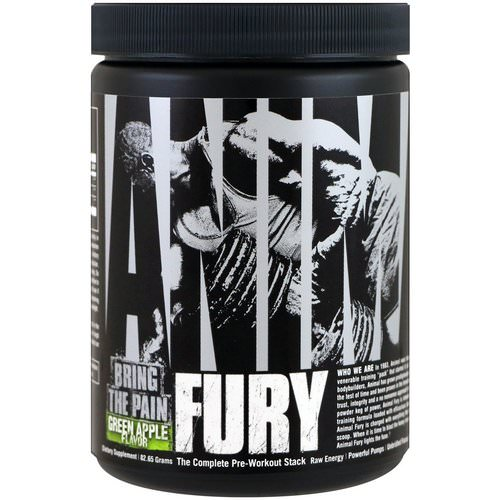 Universal Nutrition, Animal Fury, Green Apple, 82.65 g Review