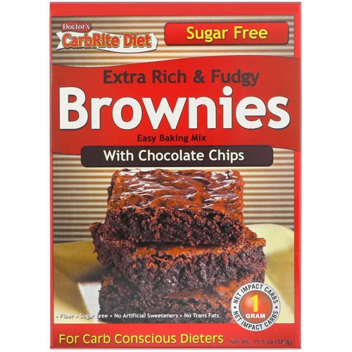 Universal Nutrition, Doctor's CarbRite Diet, Extra Rich & Fudgy Brownies with Chocolate Chips, 11.5 oz (326 g) Review