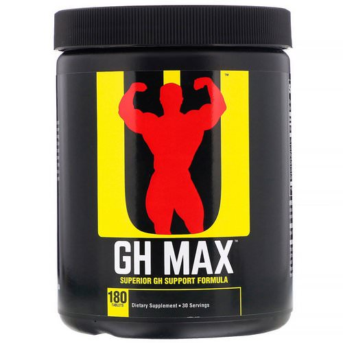 Universal Nutrition, GH Max, Superior GH Support Formula, 180 Tablets Review
