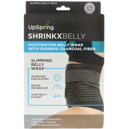 UpSpring, Shrinkx Belly, Postpartum Belly Wrap With Bamboo Charcoal Fiber, Size L/XL, Black Review
