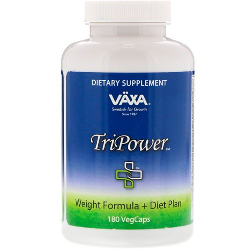 Vaxa International, TriPower, Weight Formula + Diet Plan, 180 VegCaps Review