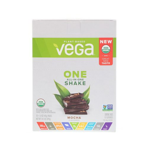 Vega, One, All-In-One Shake, Mocha, 10 Packets, 1.4 oz (40 g) Each Review
