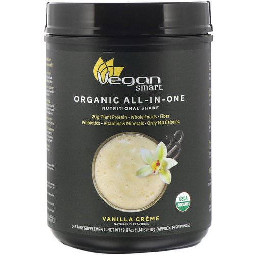 VeganSmart, Organic All-In-One Nutritional Shake, Vanilla Creme, 18.27 oz (518 g) Review