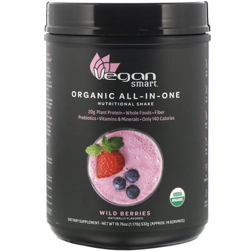 VeganSmart, Organic All-In-One Nutritional Shake, Wild Berries, 18.76 oz (532 g) Review