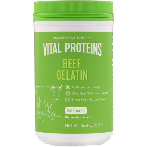 Vital Proteins, Beef Gelatin, Unflavored, 16.4 oz (465 g) Review