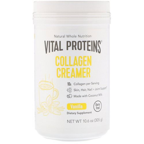 Vital Proteins, Collagen Creamer, Vanilla, 10.6 oz (305 g) Review