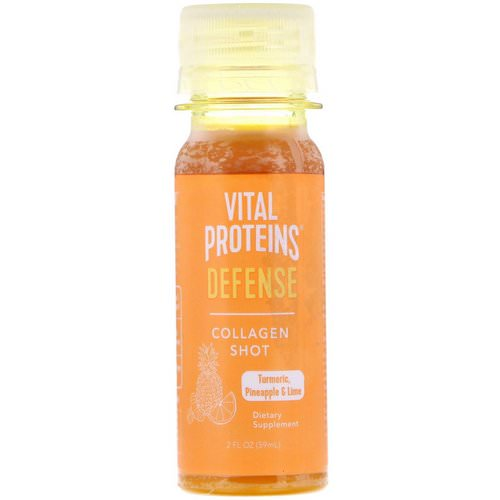 Vital Proteins, Collagen Shot, Defense, Turmeric, Pineapple & Lime, 2 fl oz (59 ml) Review