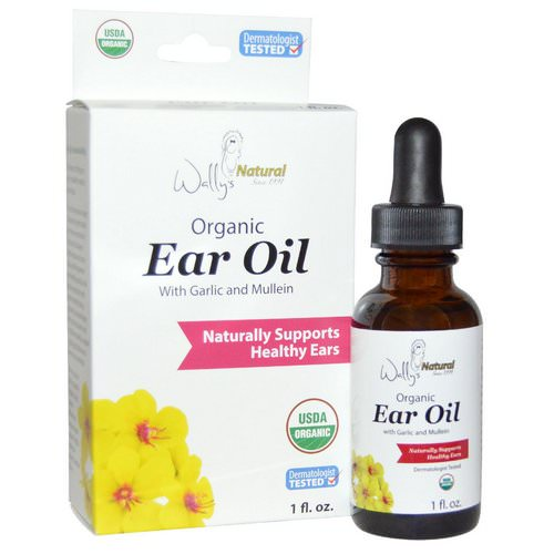 Wally's Natural, Organic Ear Oil with Garlic and Mullein, 1 fl oz Review