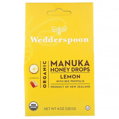 Wedderspoon, Organic Manuka Honey Drops, Lemon With Bee Propolis, 4 oz (120 g) Review