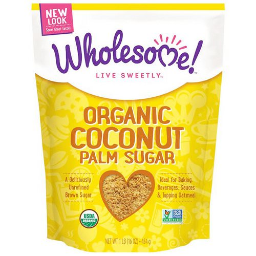 Wholesome, Organic Coconut Palm Sugar, 1 lb. (16 oz) - 454 g Review