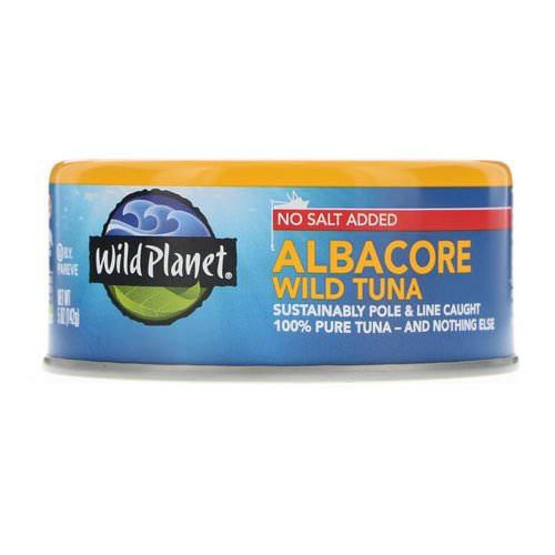 Wild Planet, Wild Albacore Tuna, No Salt Added, 5 oz (142 g) Review