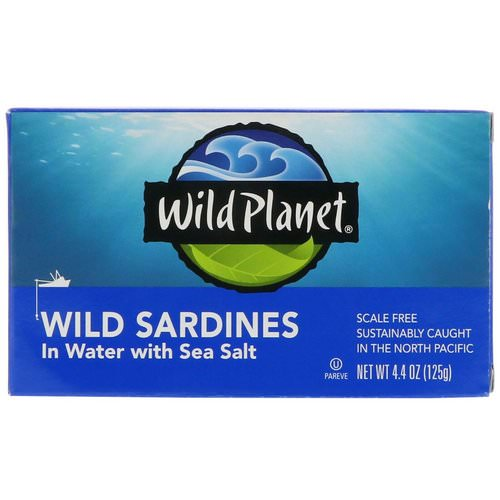 Wild Planet, Wild Sardines In Water with Sea Salt, 4.4 oz (125 g) Review