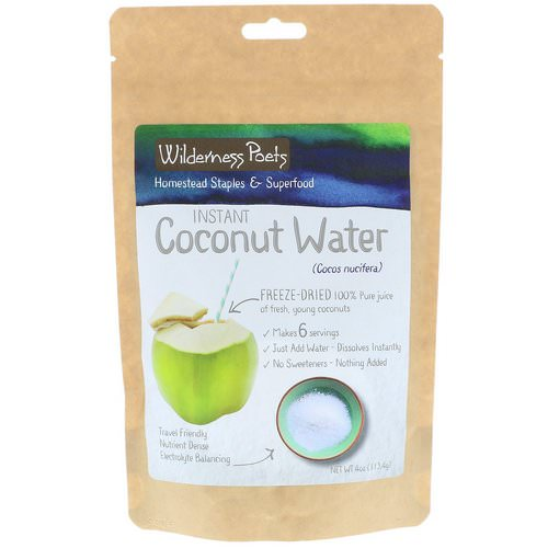 Wilderness Poets, Instant Coconut Water Powder, Freeze Dried, 4 oz (113.4 g) Review