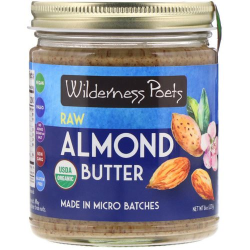 Wilderness Poets, Organic Raw Almond Butter, 8 oz (227 g) Review