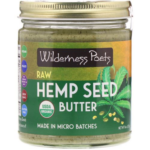 Wilderness Poets, Organic Raw Hemp Seed Butter, 8 oz (227 g) Review