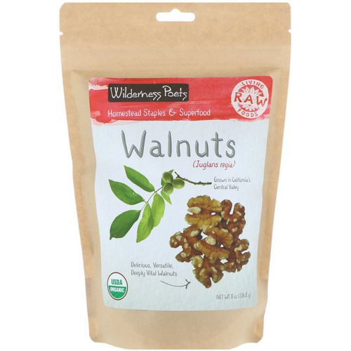 Wilderness Poets, Organic Walnuts, 8 oz (226.8 g) Review