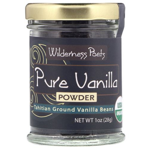 Wilderness Poets, Pure Vanilla Powder, Tahitian Ground Vanilla Beans, 1 oz (28 g) Review