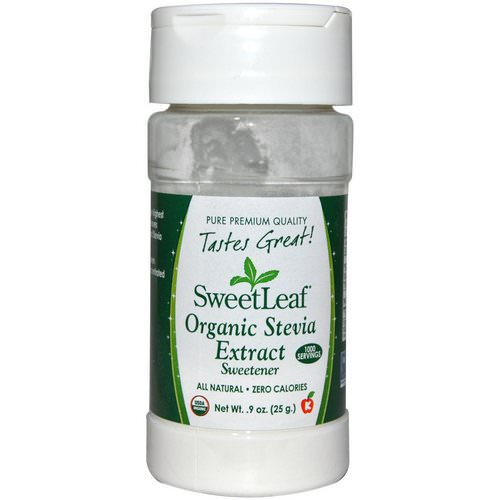 Wisdom Natural, SweetLeaf, Organic Stevia Extract, Sweetener, .9 oz (25 g) Review