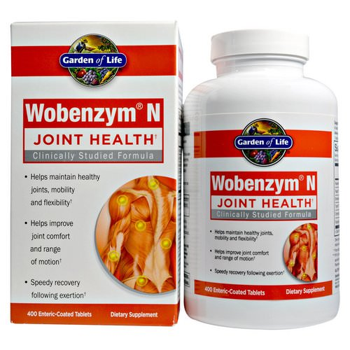 Wobenzym N, Joint Health, 400 Enteric-Coated Tablets Review